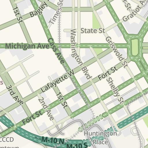 Detroit Traffic Map on