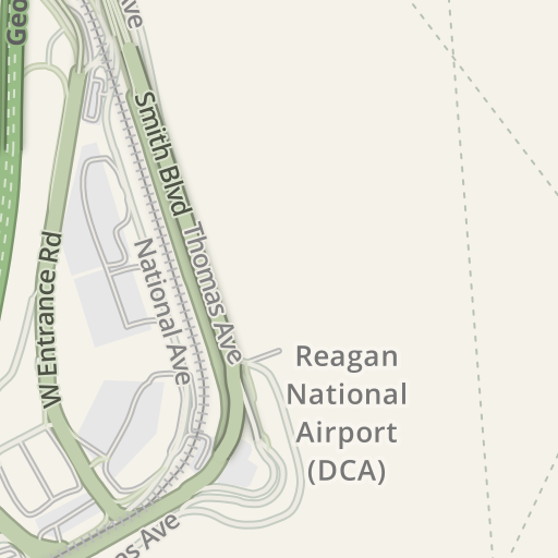 Dca Terminal Map on