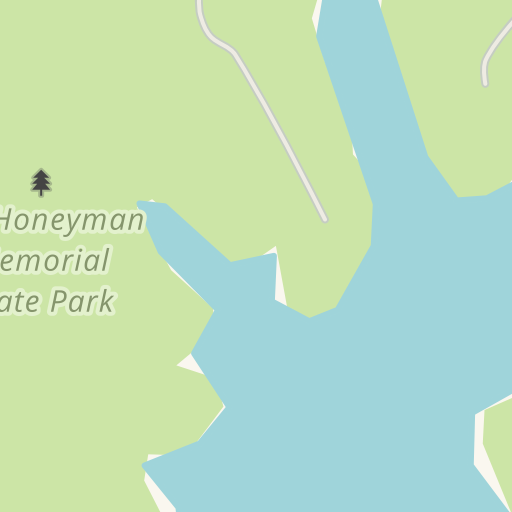 Honeyman State Park Map on