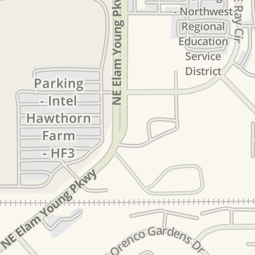 Intel Campus Map.Waze Livemap Driving Directions To Parking Intel Hawthorn Farms