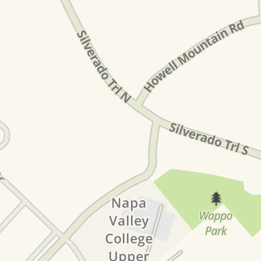 Waze Livemap Driving Directions To Parking Napa Valley College