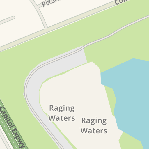 Waze Livemap - Driving Directions to Raging Waters, San Jose