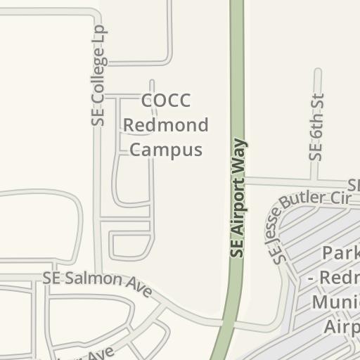 Waze Livemap   Driving Directions to COCC Redmond Campus, Redmond