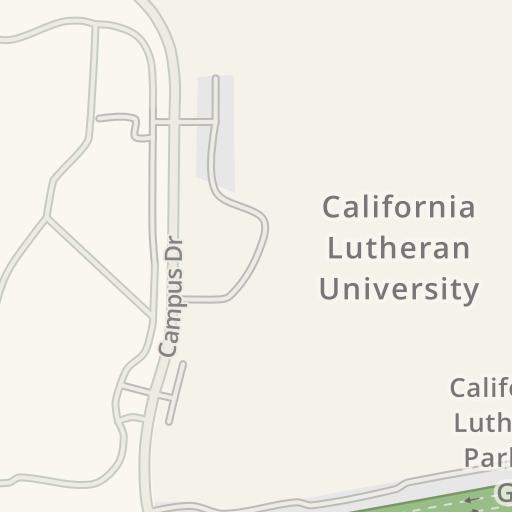 California Lutheran University Campus Map.Waze Livemap Driving Directions To California Lutheran University