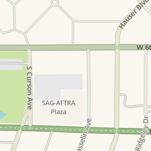 Waze Livemap - Driving Directions to Park La Brea Tower 36, Los ...