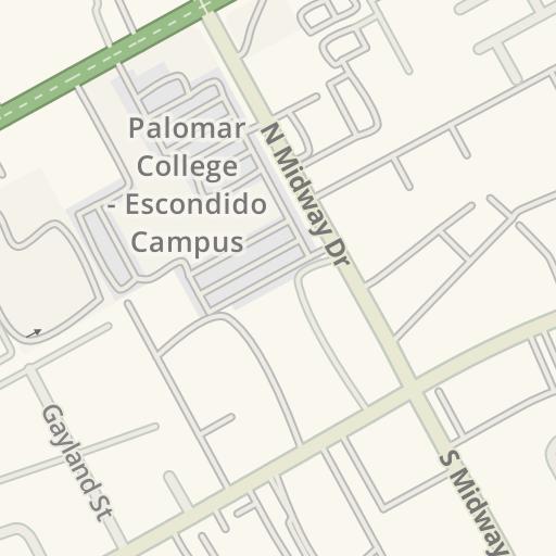 Palomar College Escondido Campus Map.Waze Livemap Driving Directions To Palomar College Escondido