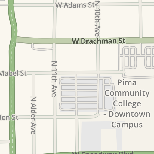 Waze Livemap Driving Directions To Pima Community College