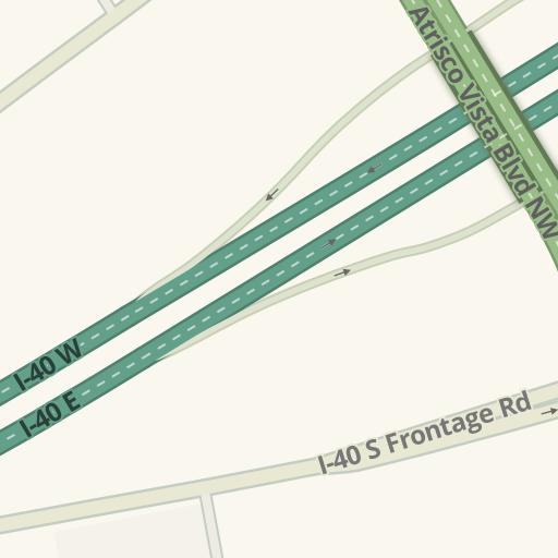 Waze Livemap - Driving Directions to La Mesa RV, Albuquerque