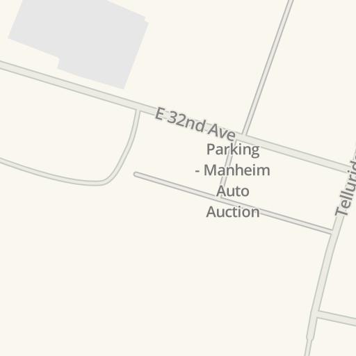 Waze Livemap - Driving Directions to Parking - Manheim Auto
