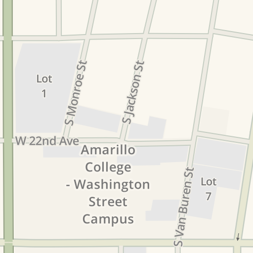Waze Livemap Driving Directions To Amarillo College Ware Student