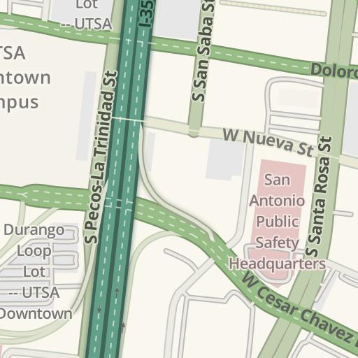 Waze Livemap - Driving Directions to Market Square Lot, San Antonio ...