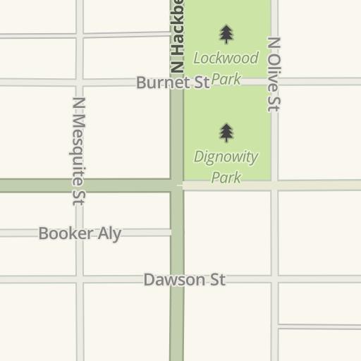 Waze Livemap - Driving Directions to Burleson Yard Beer Garden, San ...