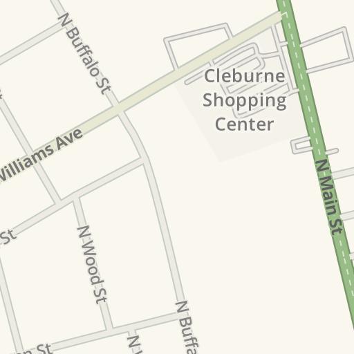 Waze Livemap Driving Directions To Carniceria Mi Pueblo Cleburne