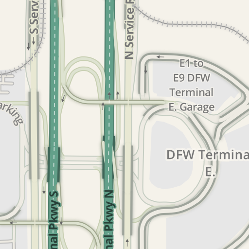 Dfw Airport Parking Map on