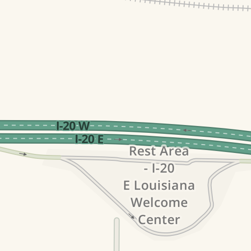 I 20 Louisiana Map.Waze Livemap Driving Directions To Rest Area I 20 E Louisiana