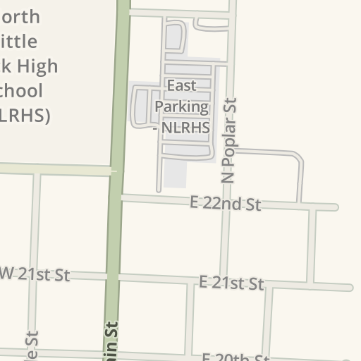 Waze Livemap Driving Directions To Parking North Little Rock