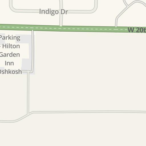 waze livemap driving directions to hilton garden inn oshkosh oshkosh united states - Hilton Garden Inn Oshkosh