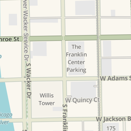 Waze Livemap - Driving Directions to 205 W Lower Wacker Dr Garage ...