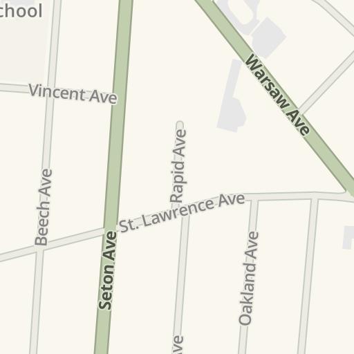 Waze Livemap Driving Directions To Elder High School Cincinnati