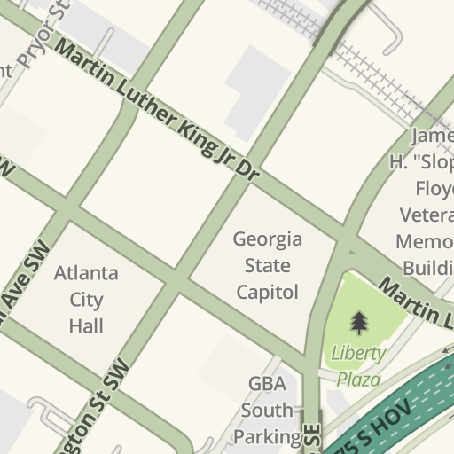 Waze Livemap Driving Directions To Parking Underground Atlanta