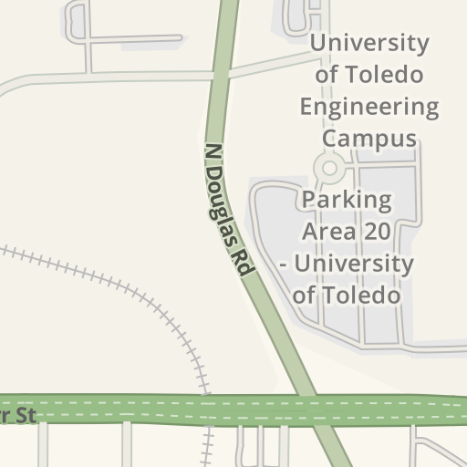 Waze Livemap Driving Directions To Parking Area 17 University Of