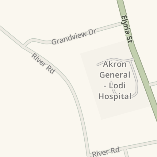 Waze Livemap - Driving Directions to Akron General - Lodi Hospital