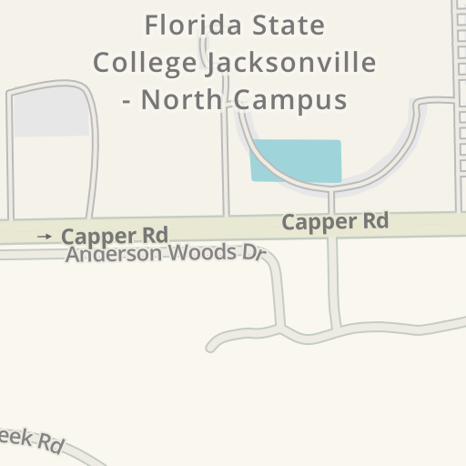 Waze Livemap Driving Directions To Baseball Field Fscj North