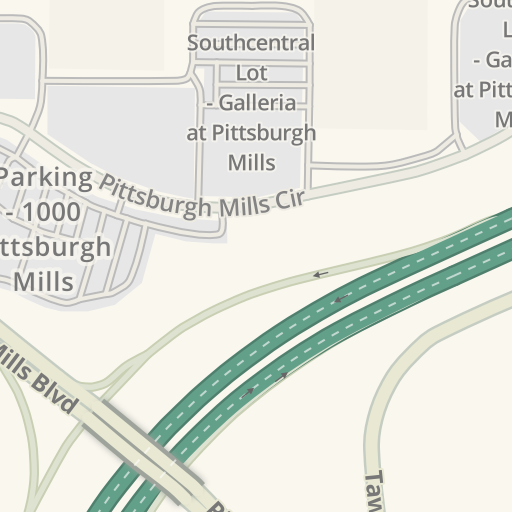 Waze Livemap Driving Directions To Parking Mall Northeast Lot