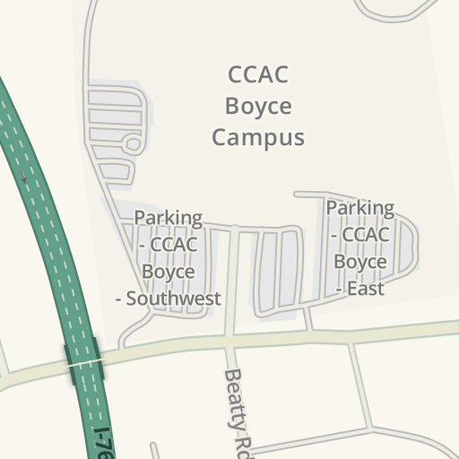 Waze Livemap Driving Directions To Ccac Boyce Campus Monroeville