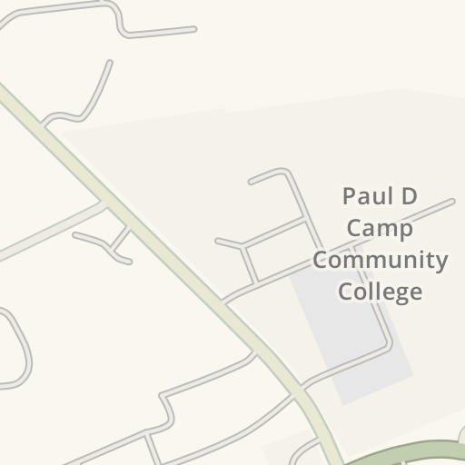 Waze Livemap Driving Directions To Paul D Camp Community College