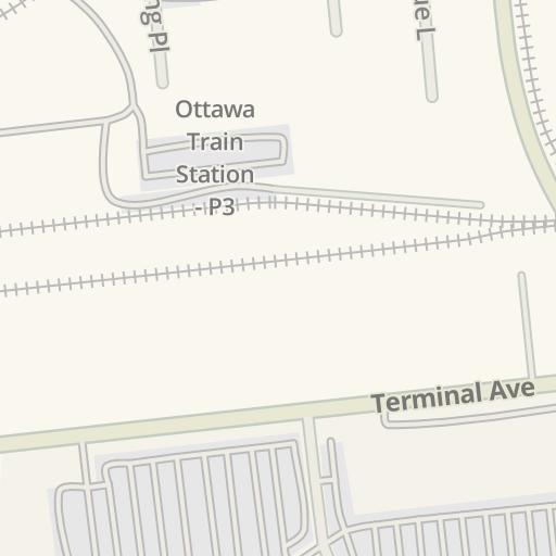 Waze Livemap - Driving Directions to Via Rail - Ottawa Train Station on