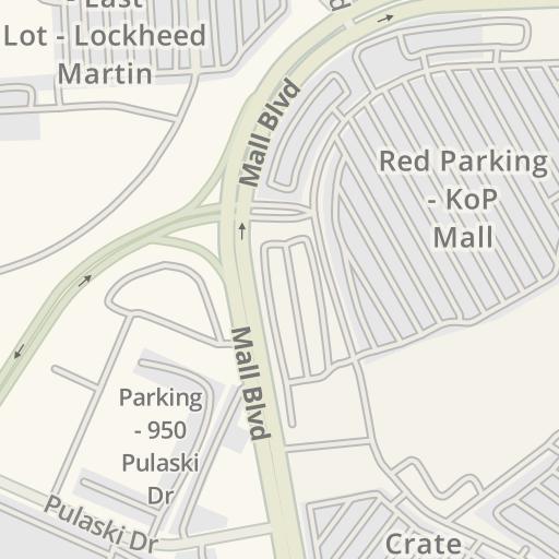 Driving Directions to Green Parking Deck - KoP Mall, King of Prussia on directory map, koa map, mac map, sci-fi map, man map, key map, kos map, mop map,