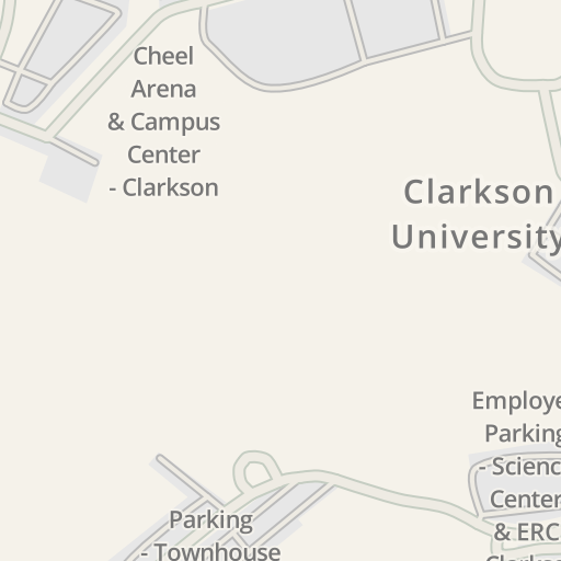 Waze Livemap Driving Directions To Cheel Campus Center Clarkson