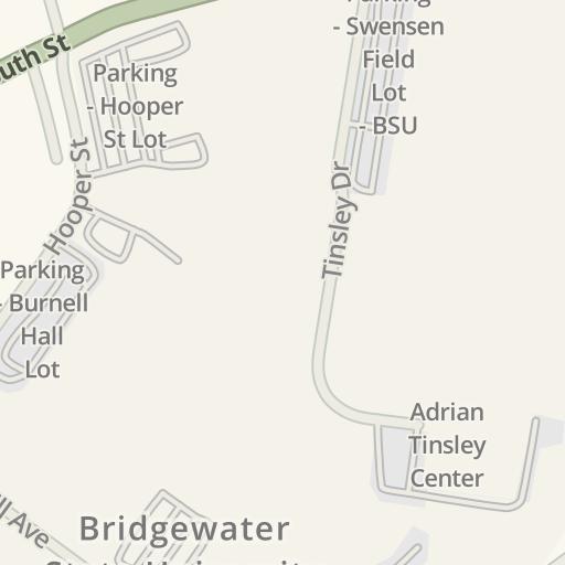 Waze Livemap Driving Directions To Bridgewater State University
