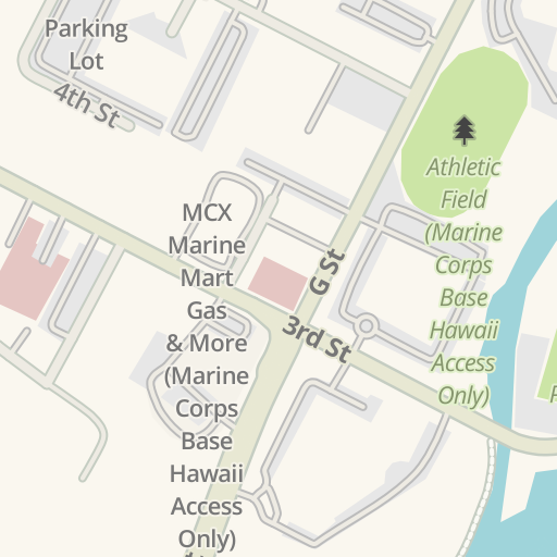 Marine Corps Base Hawaii Map.Waze Livemap Driving Directions To Risley Field Marine Corps Base