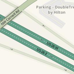 Driving directions to Parking Hilton Garden Inn Beaverton