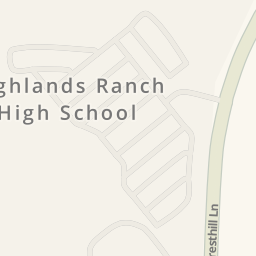 Driving directions to Highlands Ranch High School Highlands Ranch