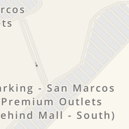 Driving directions to Parking - San Marcos Premium Outlets ...