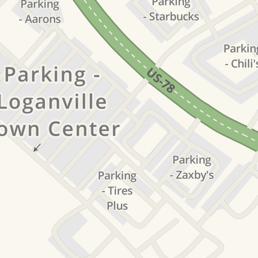 Driving directions to Parking - Wendy\'s, Loganville, United States ...